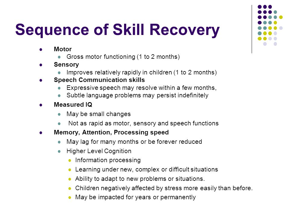 Sequence of Skill Recovery