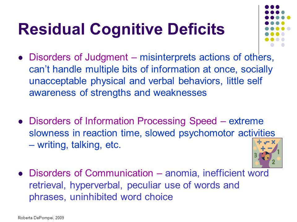 Residual Cognitive Deficits
