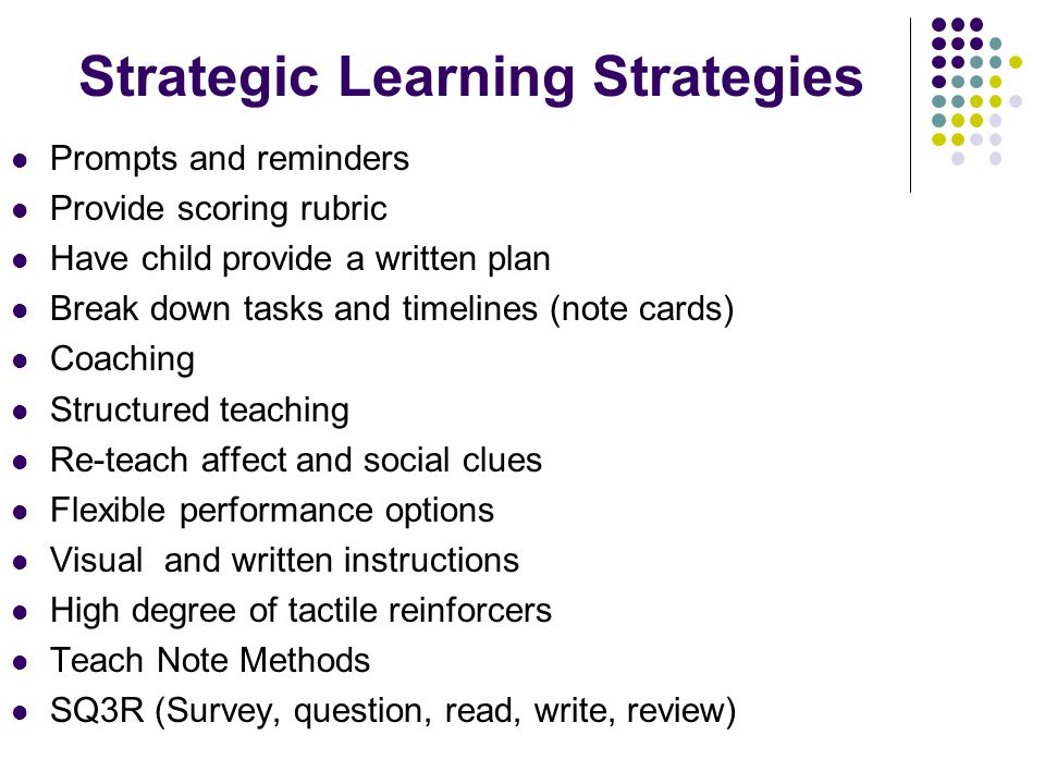 Strategic Learning Strategies