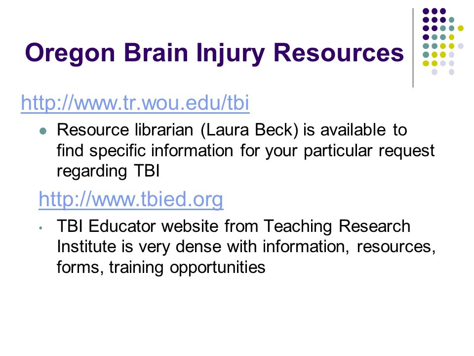 Oregon Brain Injury Resources
