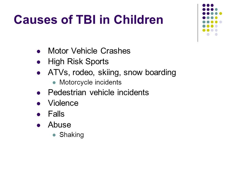 Causes of TBI in Children