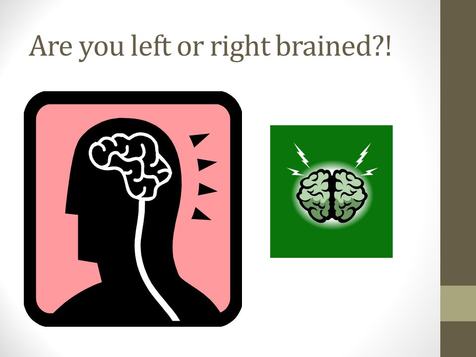 Are you left or right brained !