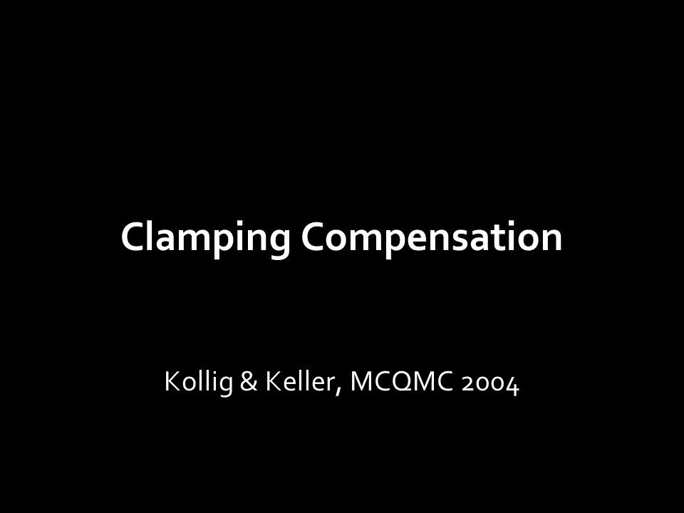 Clamping Compensation