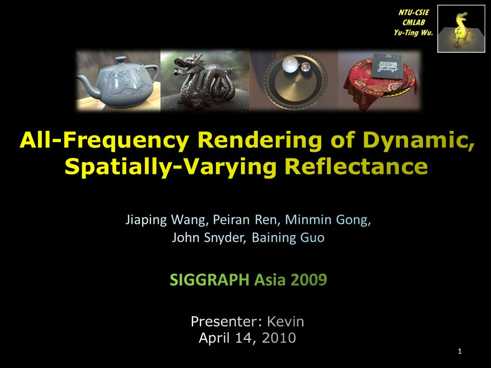 All-Frequency Rendering of Dynamic, Spatially-Varying Reflectance