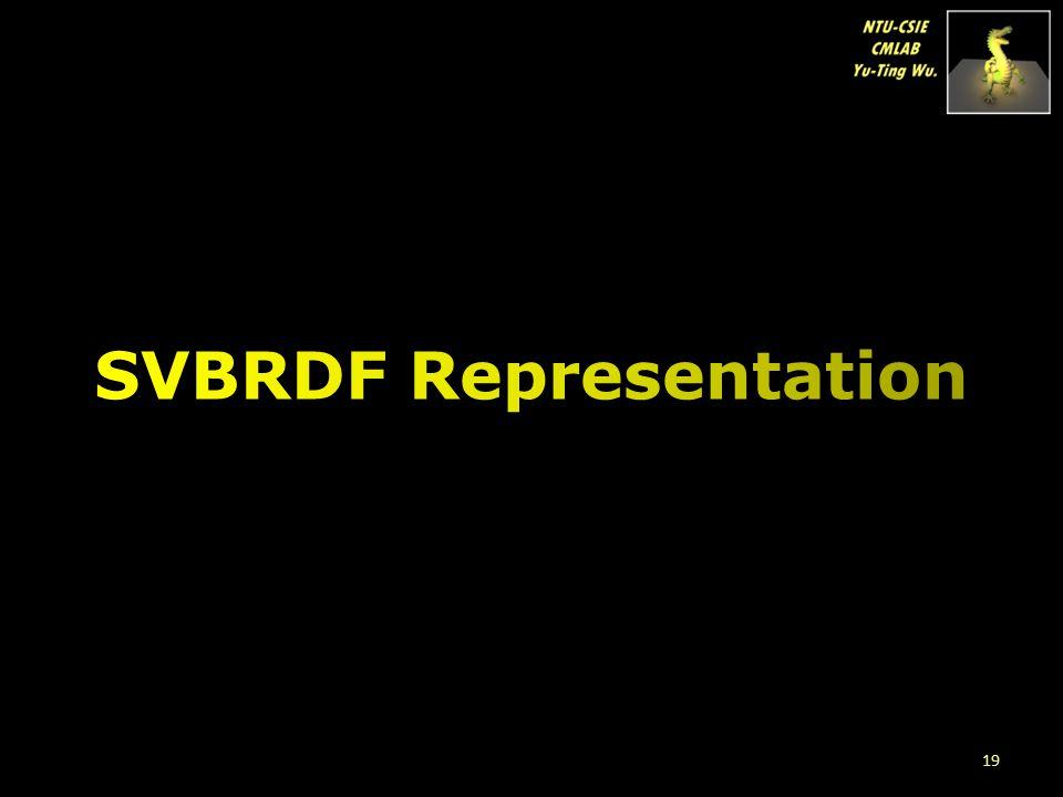 SVBRDF Representation