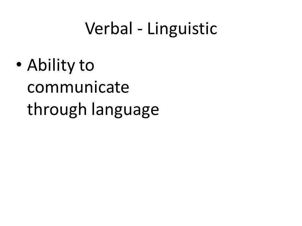 Ability to communicate through language