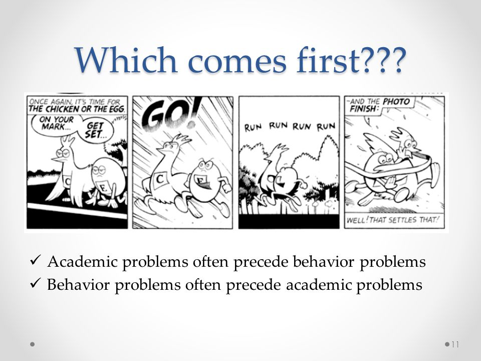 Which comes first Academic problems often precede behavior problems