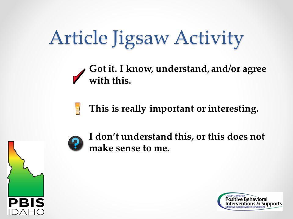 Article Jigsaw Activity