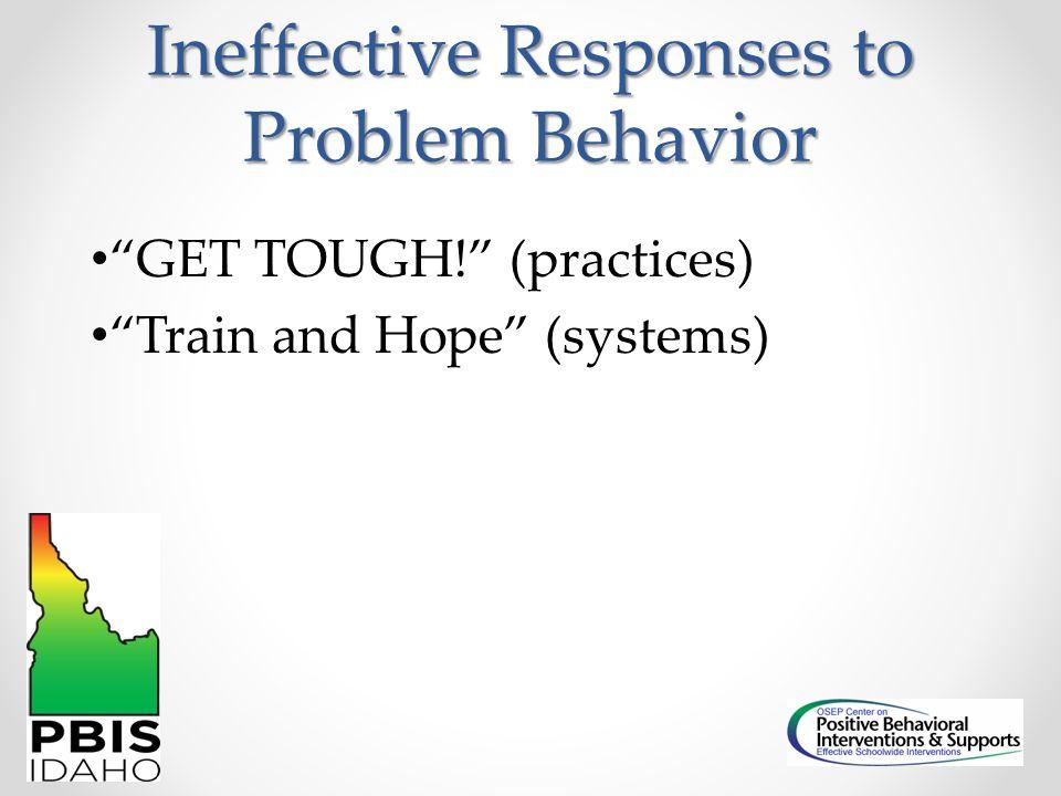 Ineffective Responses to Problem Behavior