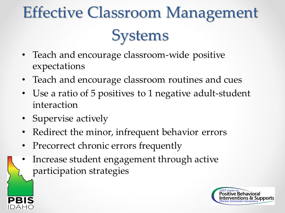 Effective Classroom Management Systems