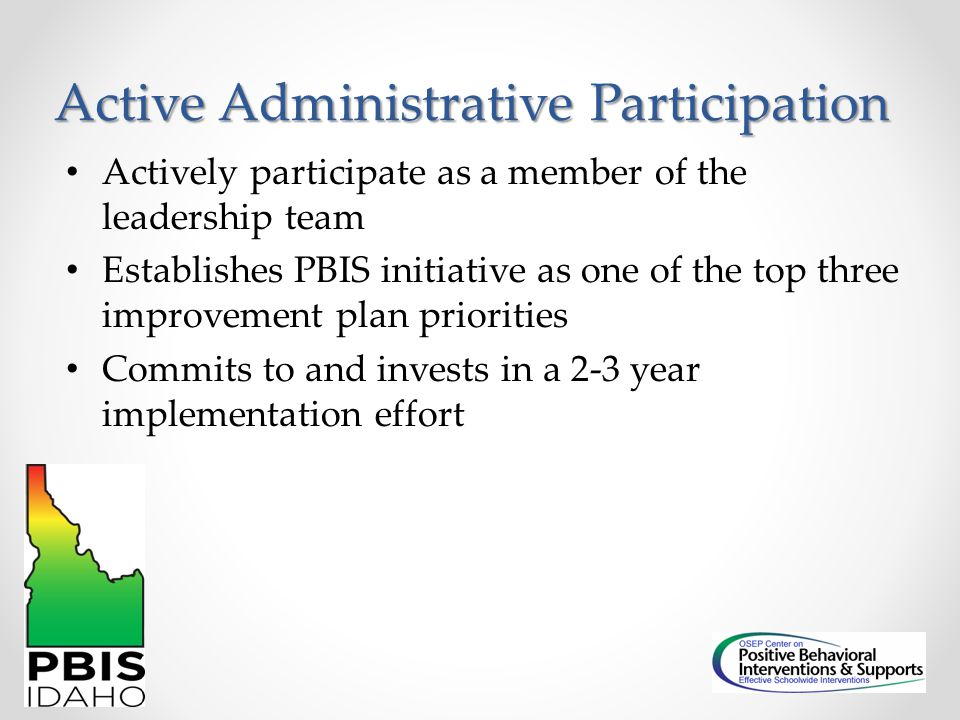 Active Administrative Participation