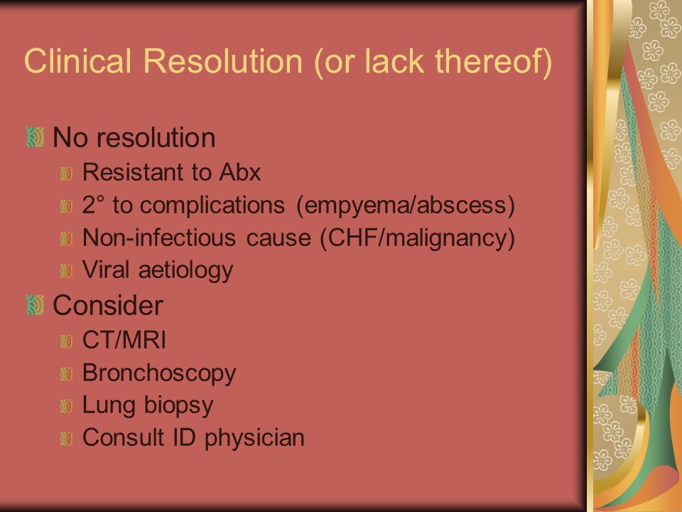 Clinical Resolution (or lack thereof)