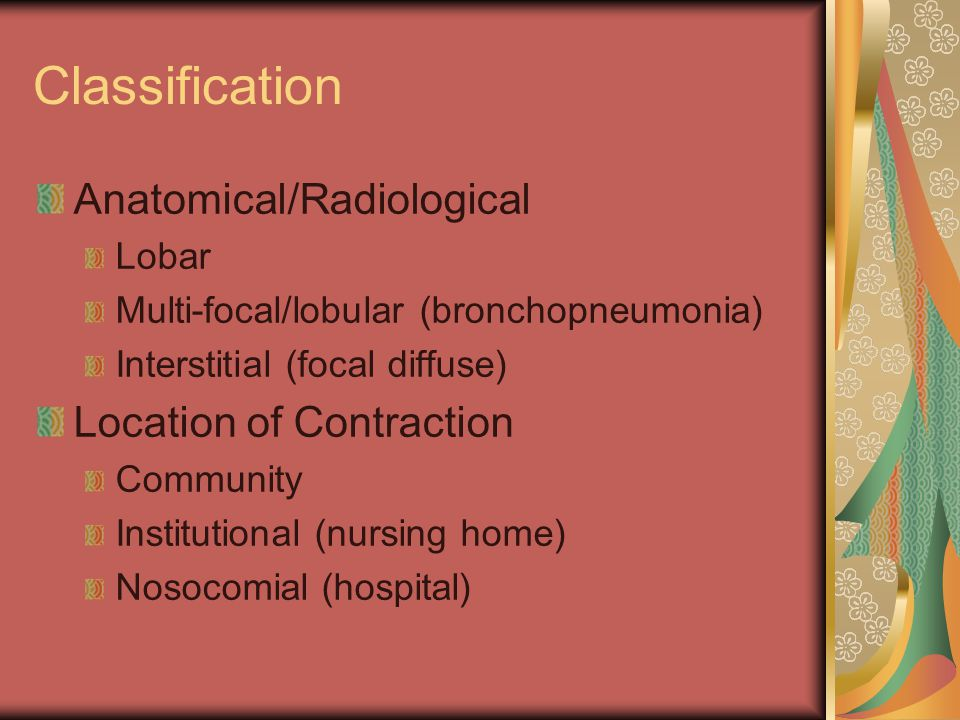 Classification Anatomical/Radiological Location of Contraction Lobar