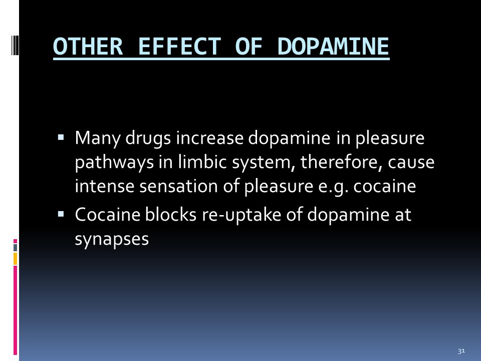 OTHER EFFECT OF DOPAMINE