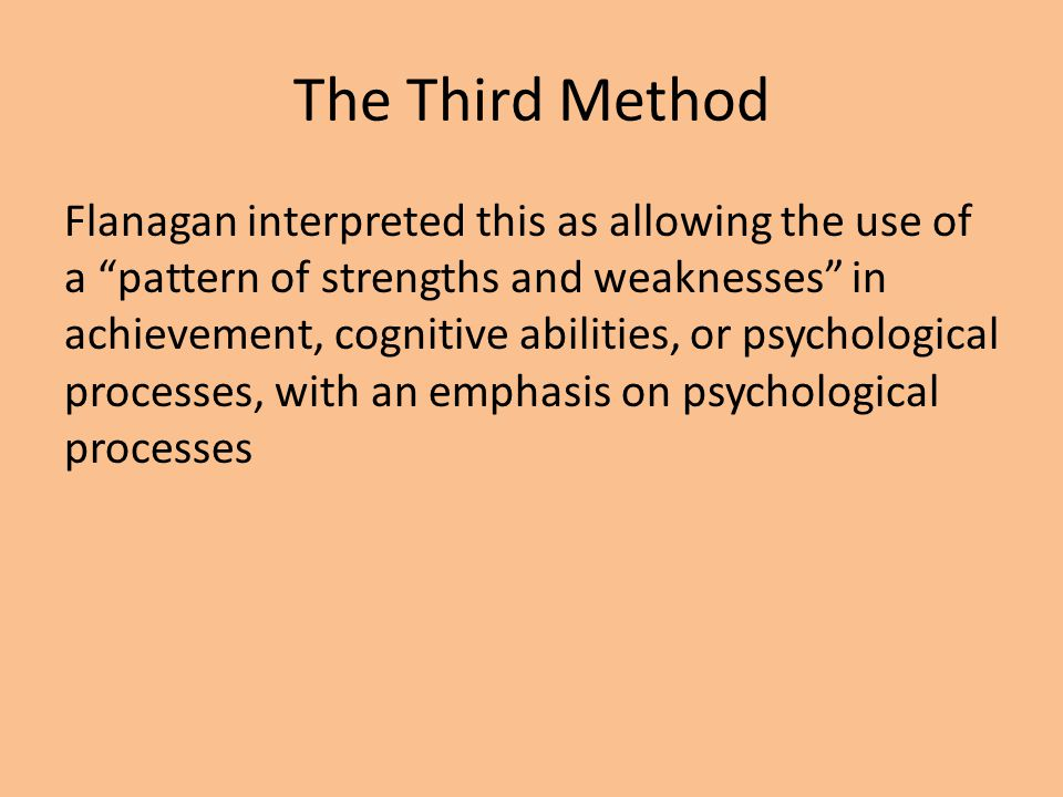 The Third Method