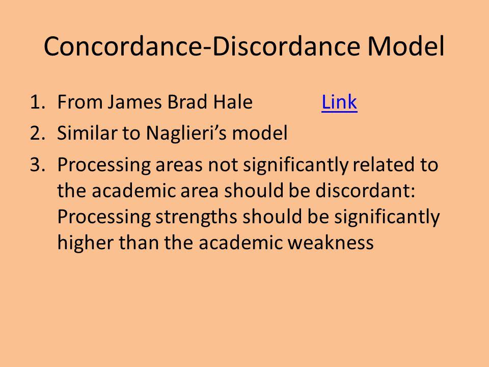 Concordance-Discordance Model