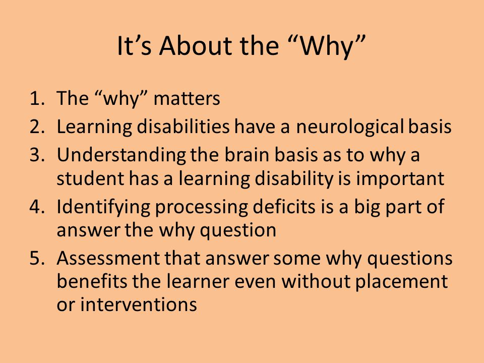 It's About the Why The why matters