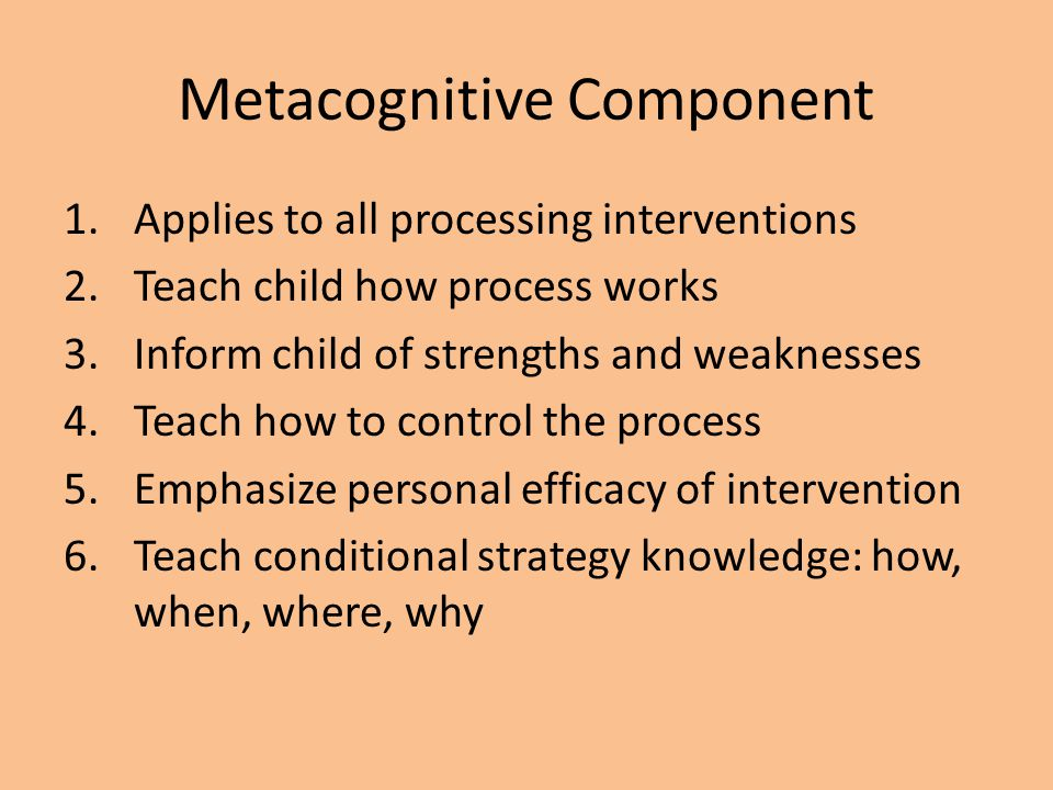 Metacognitive Component
