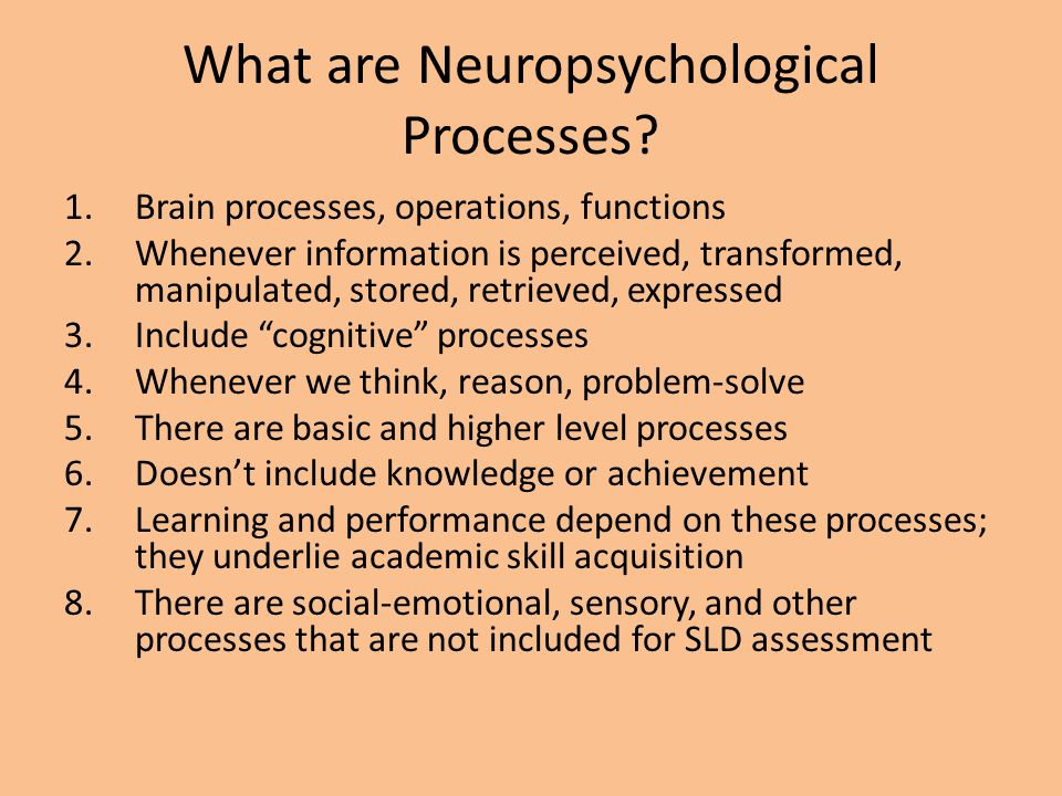 What are Neuropsychological Processes