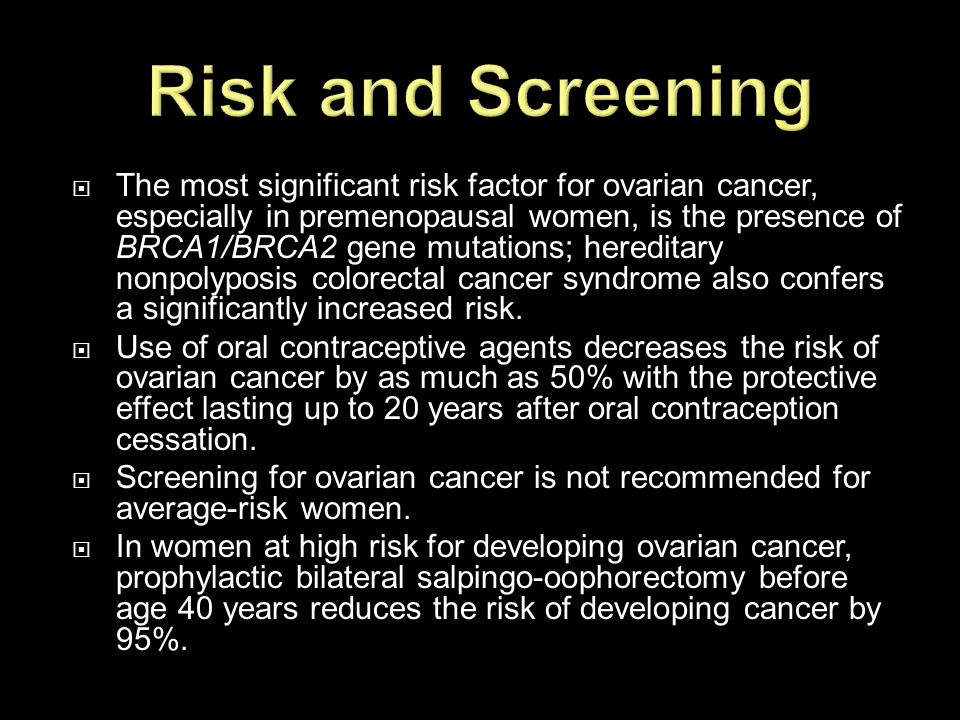 Risk and Screening