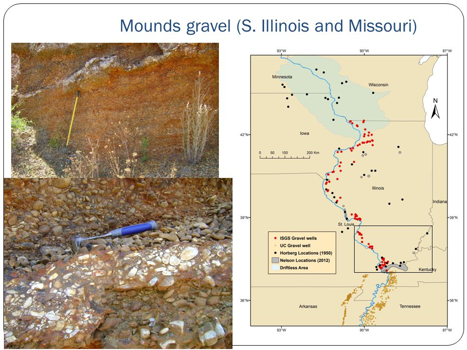 Mounds gravel (S. Illinois and Missouri)