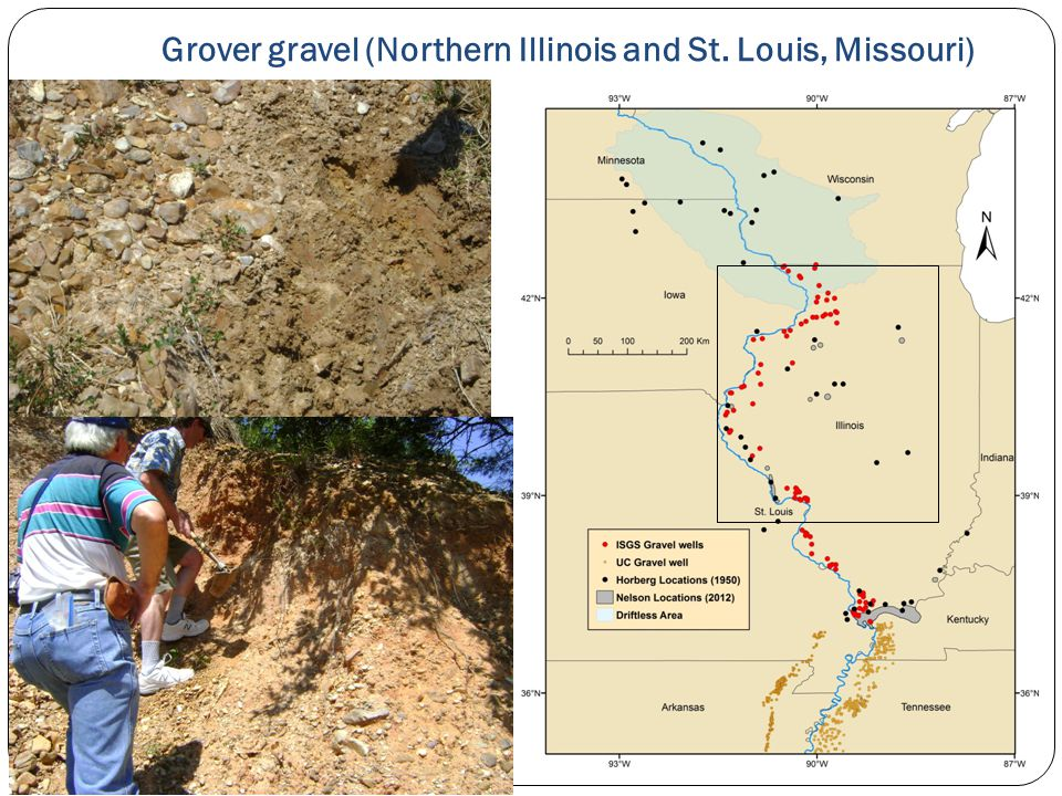 Grover gravel (Northern Illinois and St. Louis, Missouri)