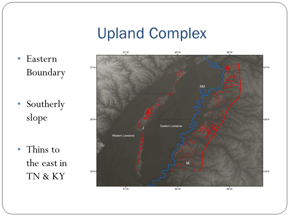 Upland Complex Eastern Boundary Southerly slope