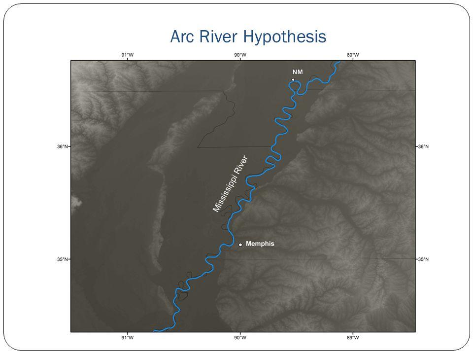 Arc River Hypothesis Mississippi River Memphis