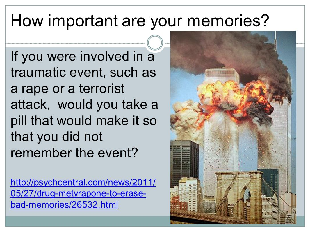 How important are your memories