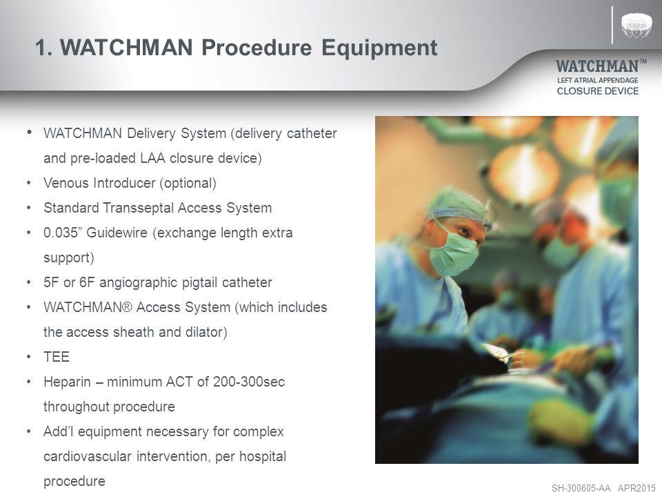 1. WATCHMAN Procedure Equipment