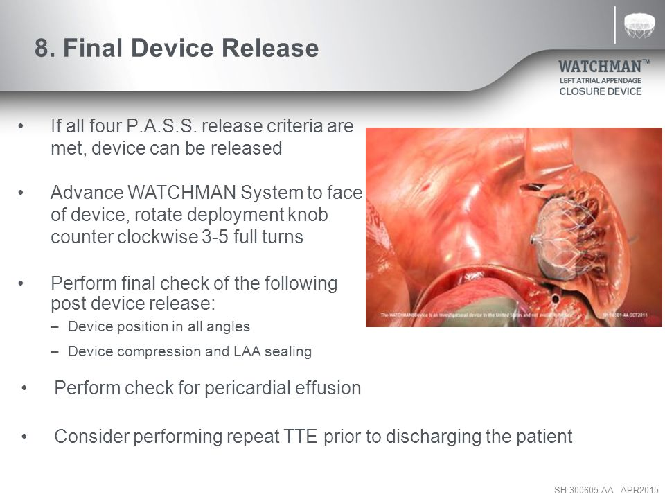 8. Final Device Release If all four P.A.S.S. release criteria are met, device can be released.