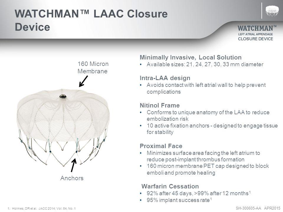 WATCHMAN™ LAAC Closure Device