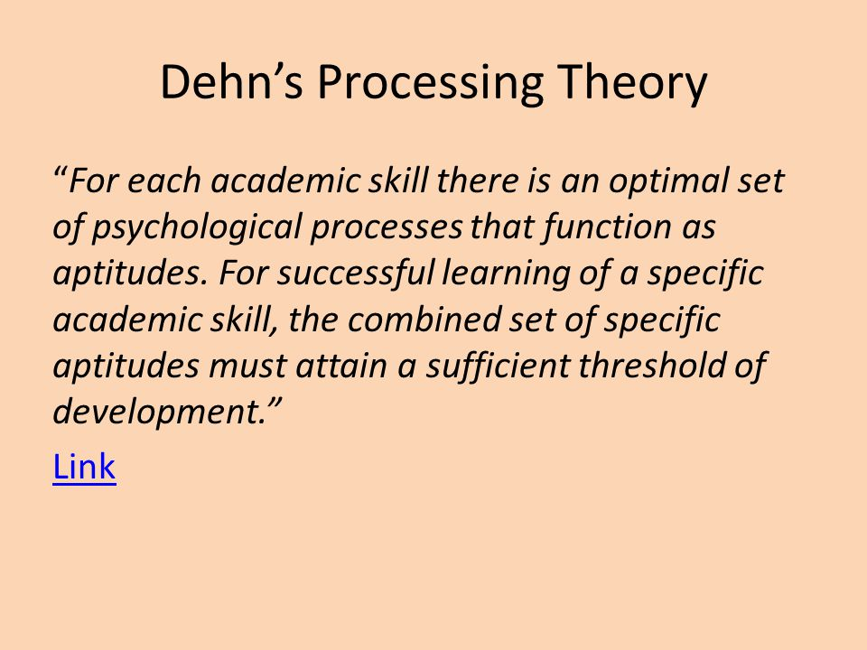 Dehn's Processing Theory