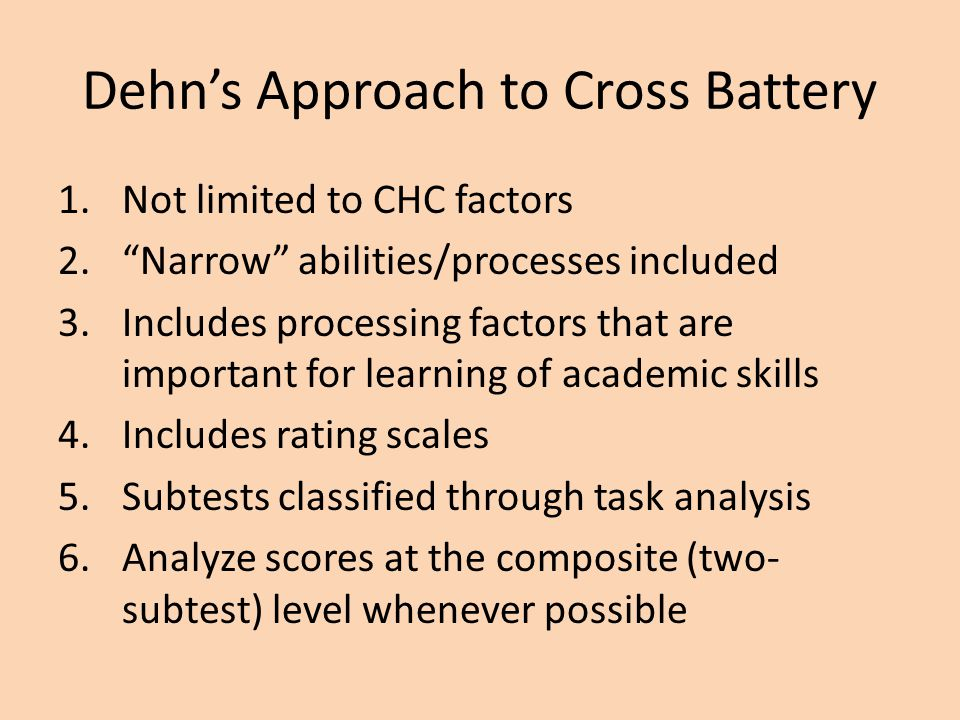 Dehn's Approach to Cross Battery