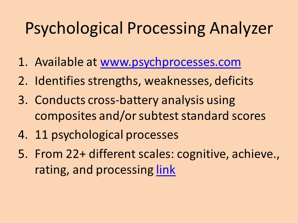 Psychological Processing Analyzer