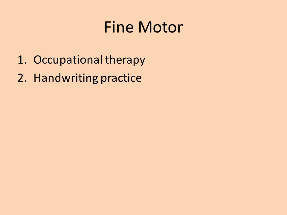 Fine Motor Occupational therapy Handwriting practice