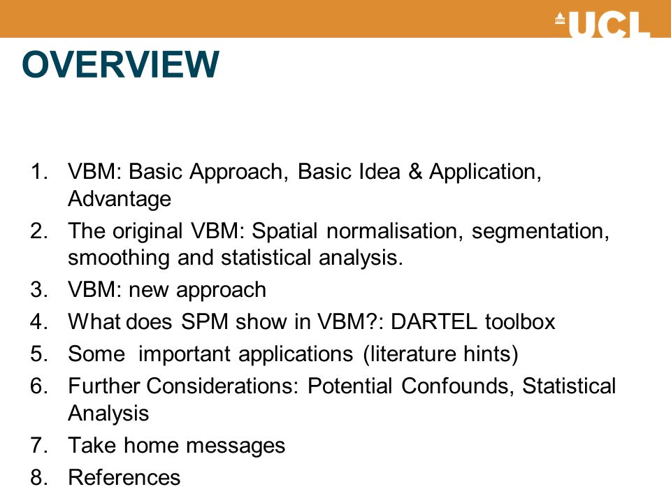 OVERVIEW VBM: Basic Approach, Basic Idea & Application, Advantage