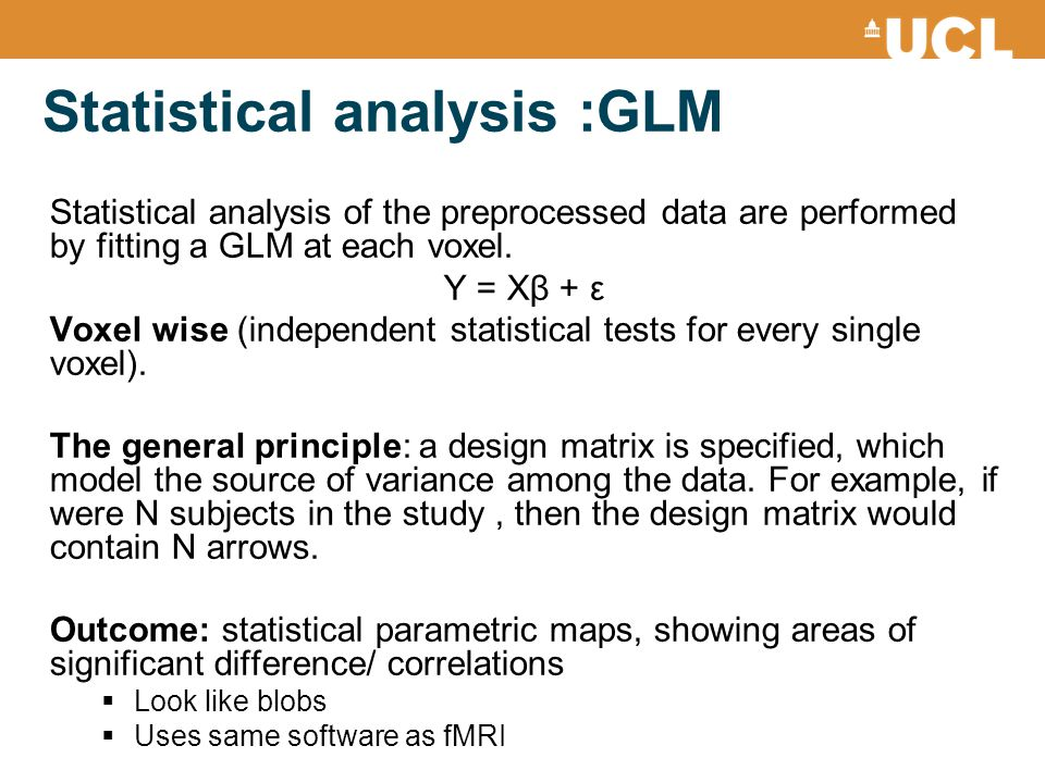 Statistical analysis :GLM