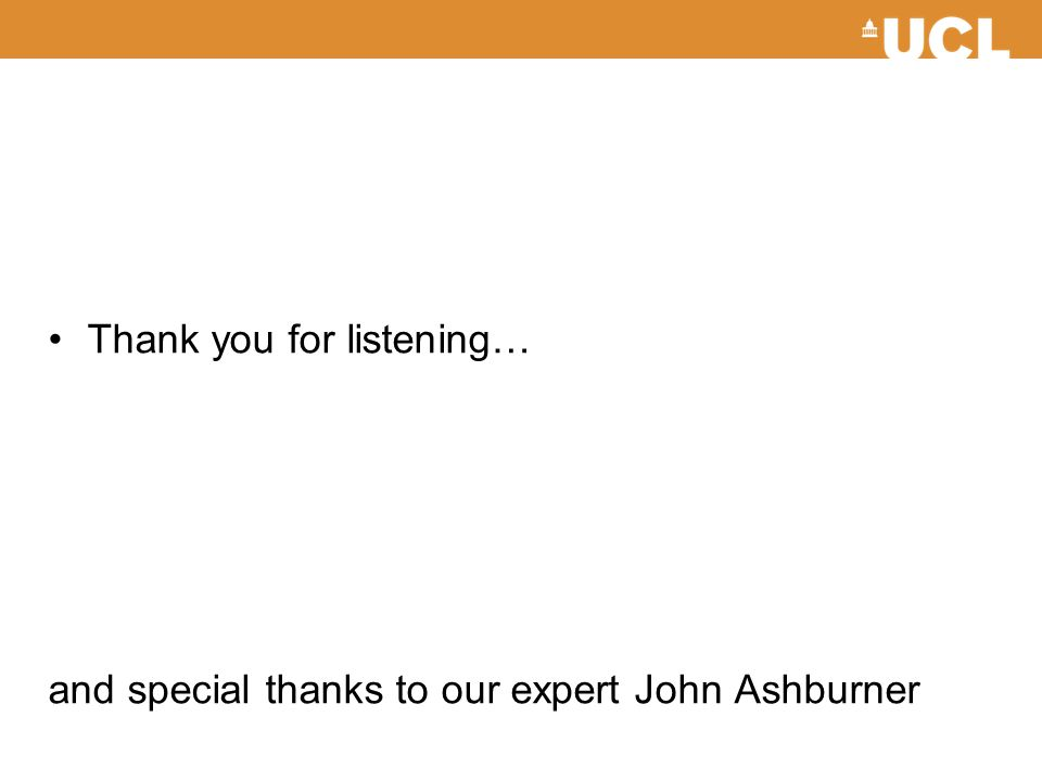 Thank you for listening…