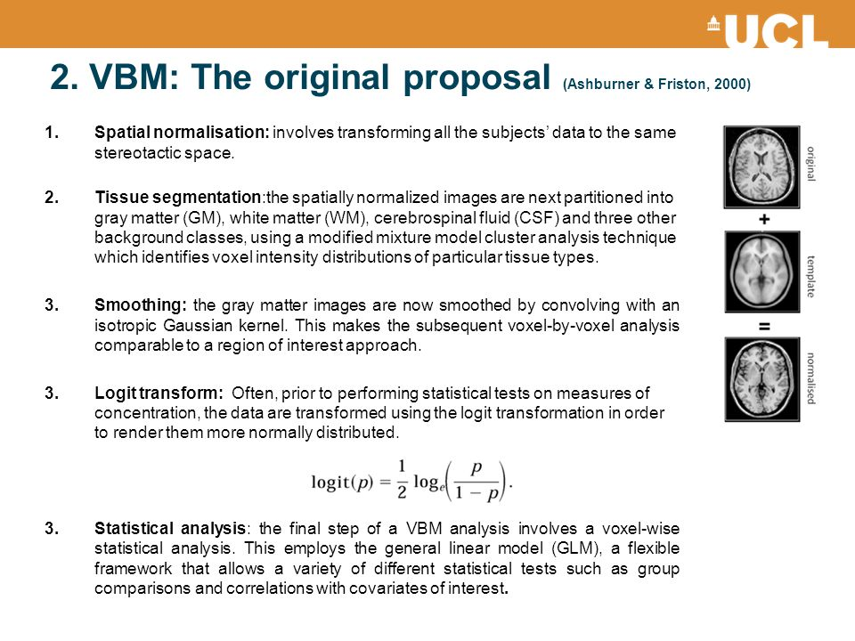 2. VBM: The original proposal (Ashburner & Friston, 2000)