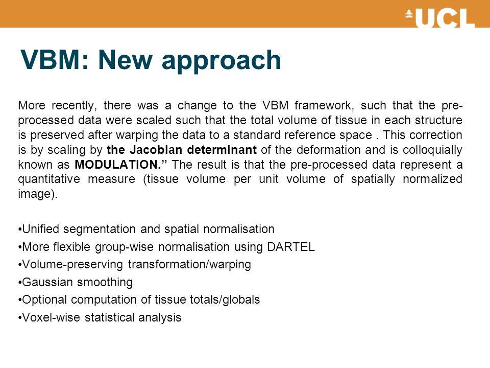VBM: New approach