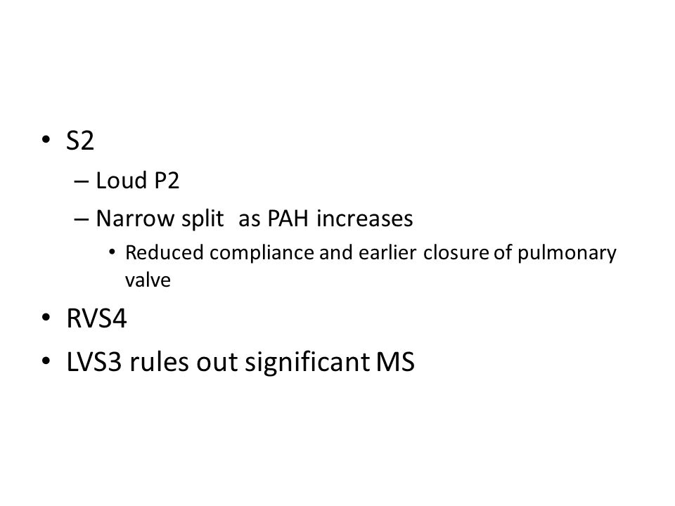 LVS3 rules out significant MS