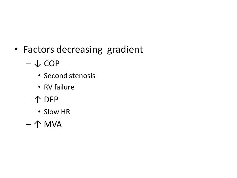 Factors decreasing gradient