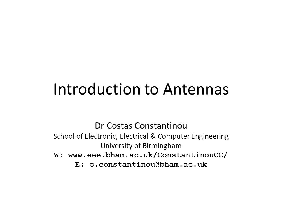 Introduction to Antennas