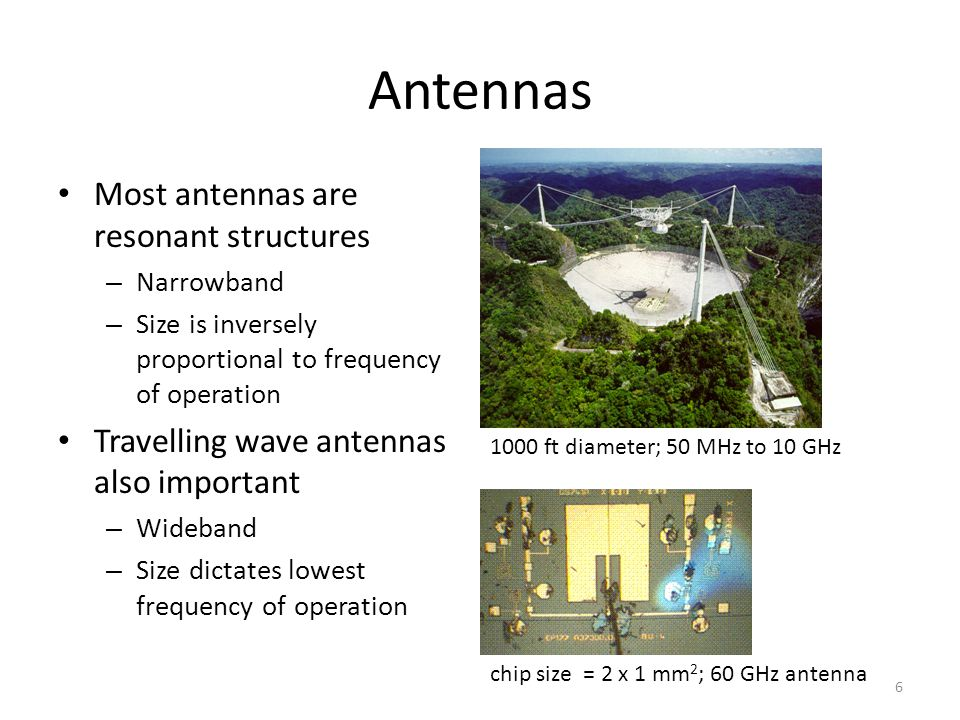 Antennas Most antennas are resonant structures