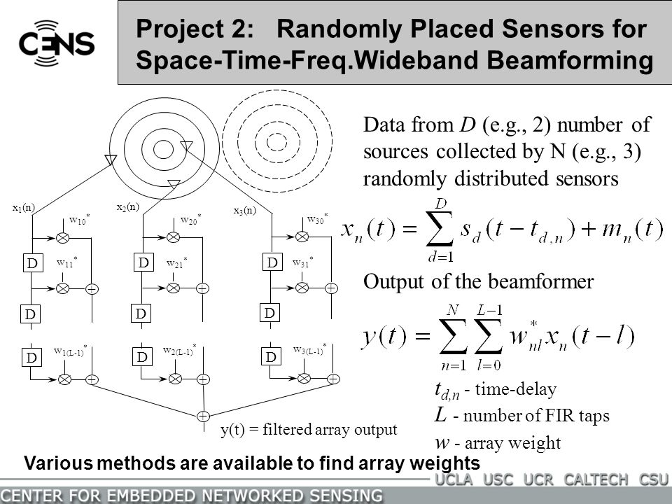 Project 2: Randomly Placed Sensors for Space-Time-Freq
