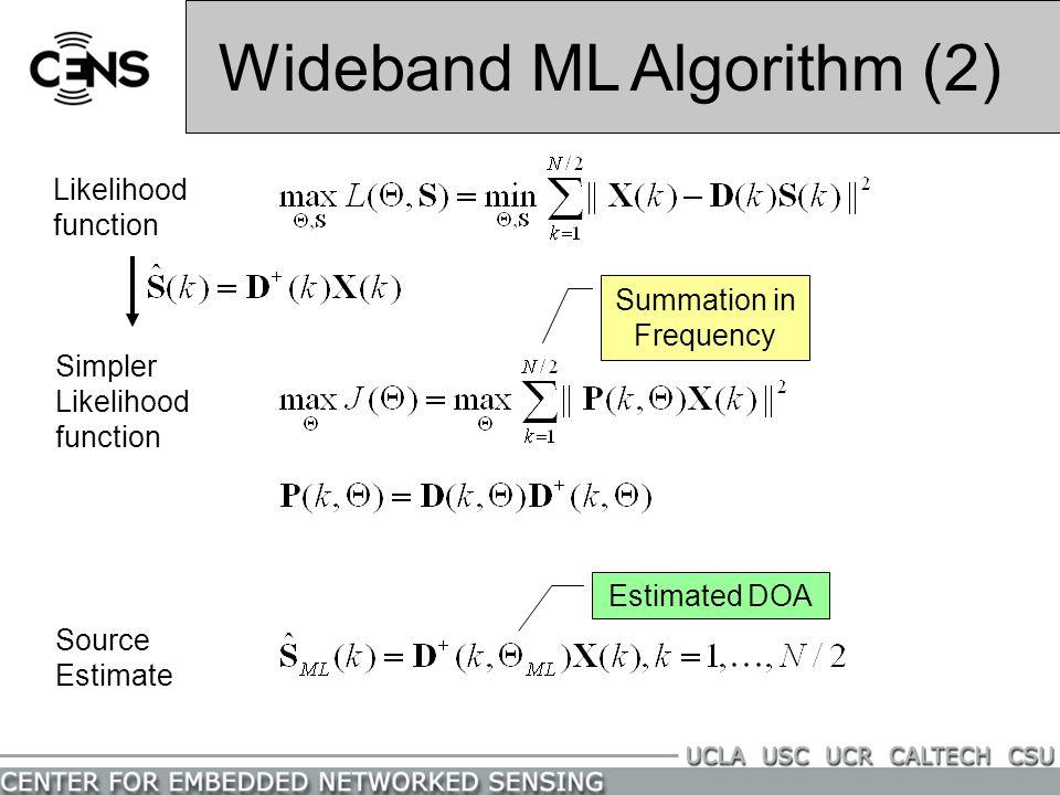 Wideband ML Algorithm (2)