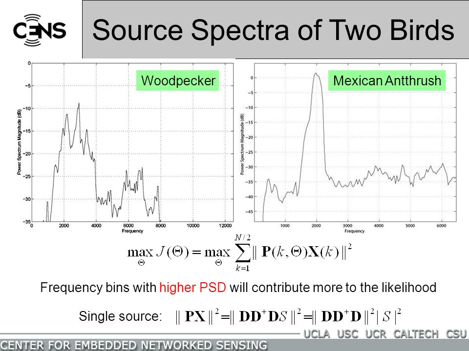 Source Spectra of Two Birds