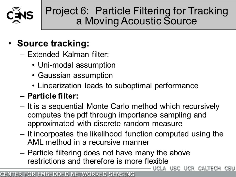Project 6: Particle Filtering for Tracking a Moving Acoustic Source