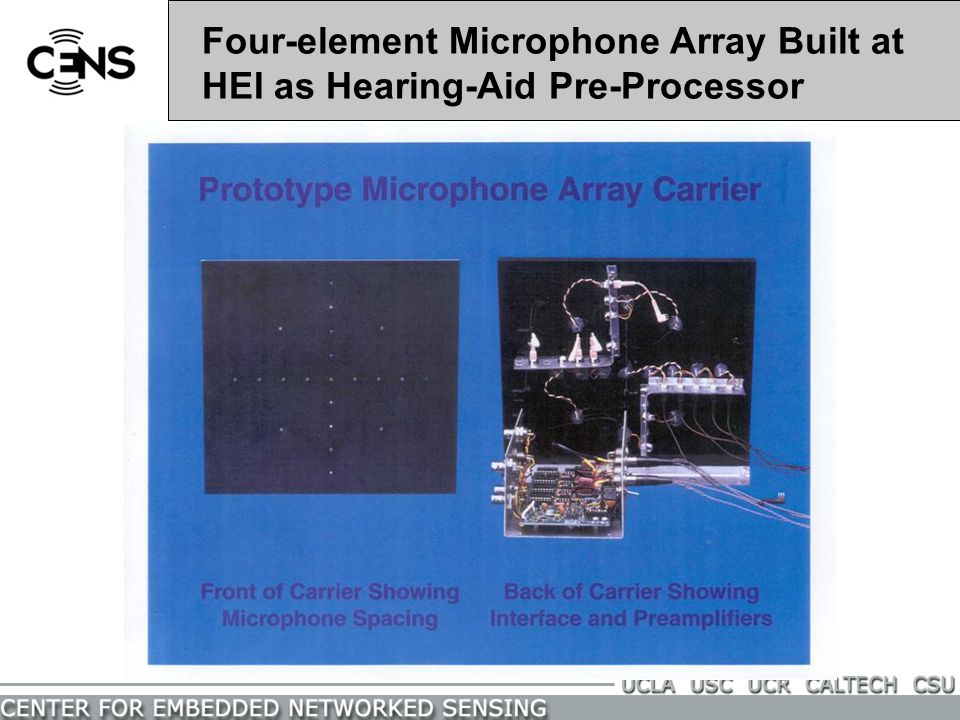 Four-element Microphone Array Built at